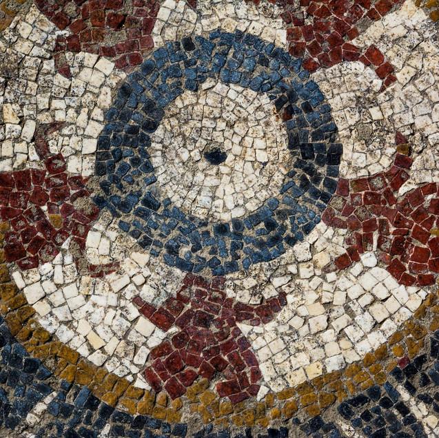 head of bulls or flower buds mosaics