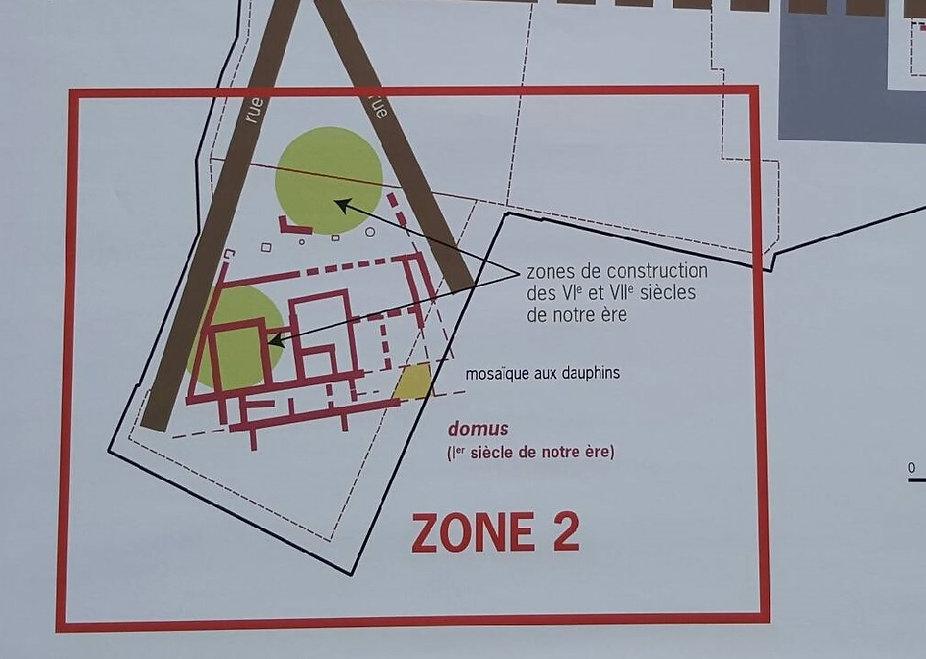 Plan de la zone 2 à Ucetiae