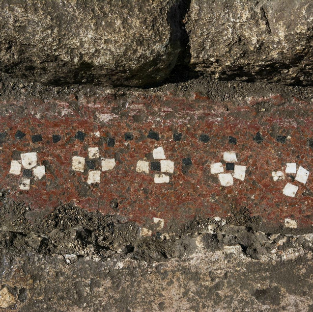 Red Mosaic in Ucetia