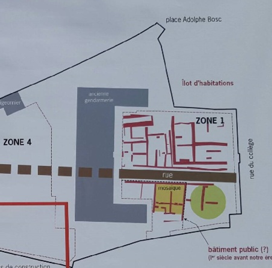 Plan de la zone 1 à Ucetia