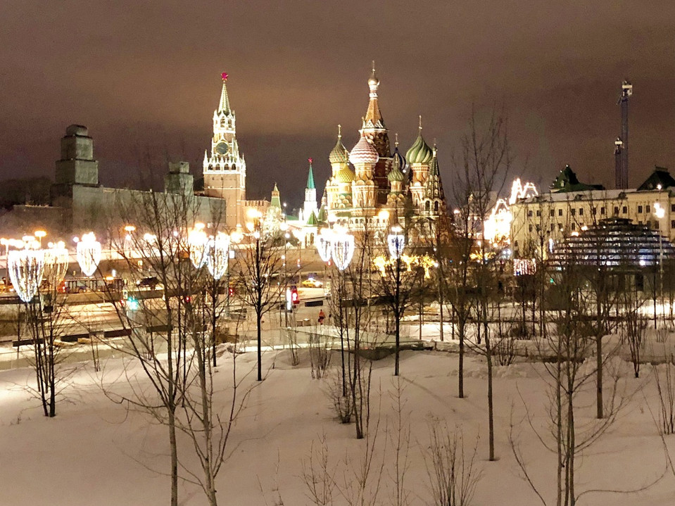Red Square by night, Moscow