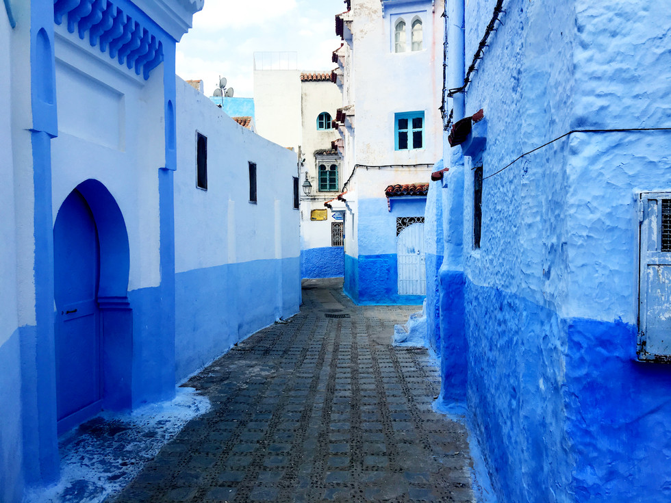 The blue streets of Chefchauoen