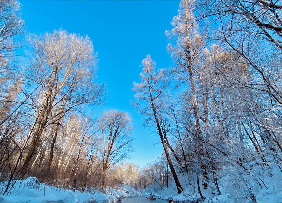 Winter landscape, 长白山