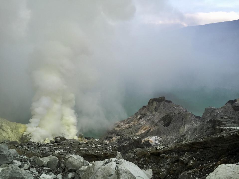 Sulfur mines, Mount Ijen