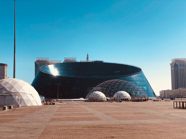 """Shabyt Palace of Art, or the """"Dog Bowl"""" in Astana"""
