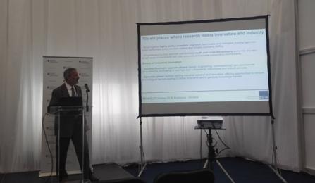 Georgio Rossi (NFFA-Europe) talking at the 2016 ReInEu in Bratislava