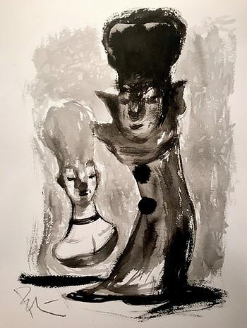 La dama y el cosaco Pierrot