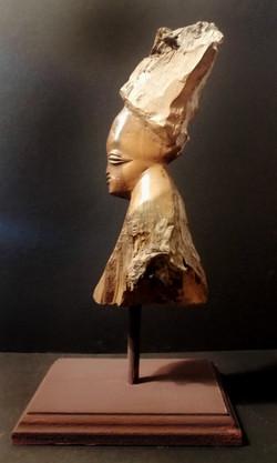 Vintage African hardwood tribal head carving