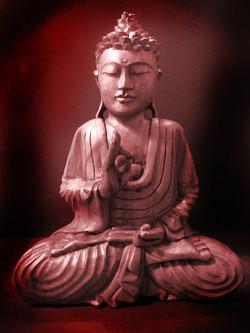 Solid wood Indonesian Buddha