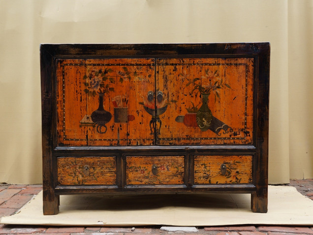Hand painted Chinese cabinet