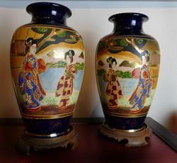 Japanese Meiji Satsuma vases