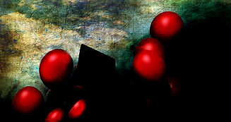 red balloons gather at the front door.jp