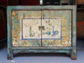 Antique style hand painted cabinet