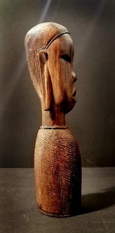 Vintage African tribal hardwood carving
