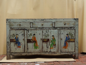 Hand painted with figurative design
