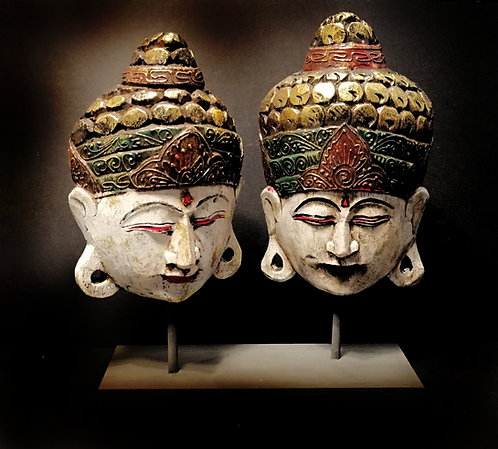 Vintage Thai Buddha faces masks