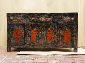 Hand painted Rustic Chinese sideboard