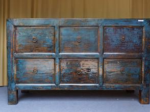 Set of six drawers