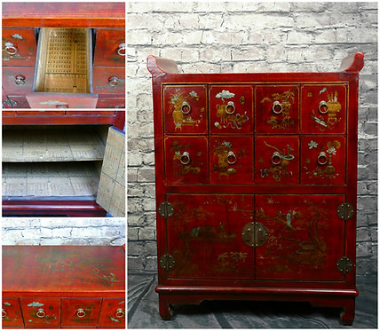 Chinese Altar end Apothecary | Herb Cabinet