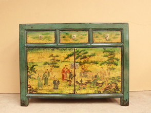 Decorative Hand painted Chinese Cupboard