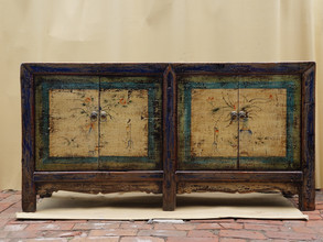 Antique hand painted cabinet