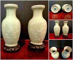 Antique Chinese Celadon vases