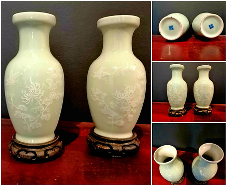 Antique Chinese Celadon Vases
