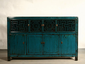 Bejing style glossy finish decorative cupboard