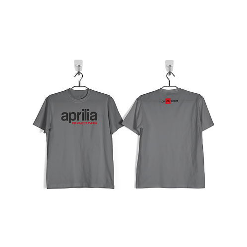 Remera Aprilia Be a Racer Gris
