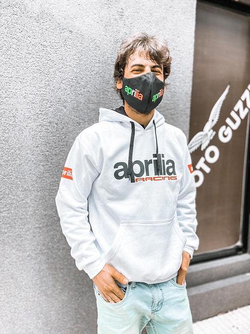 Buzo Hoodie Aprilia Racing Blanco