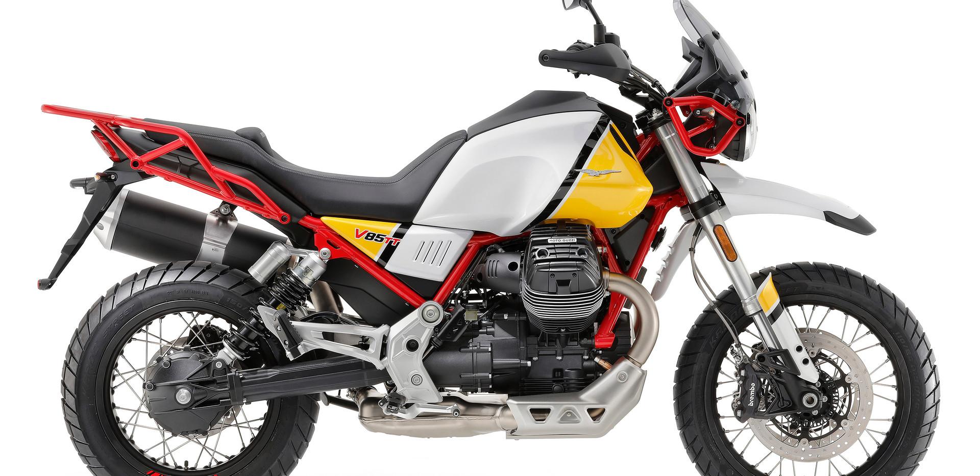 Moto Guzzi V85 TT Amarilla