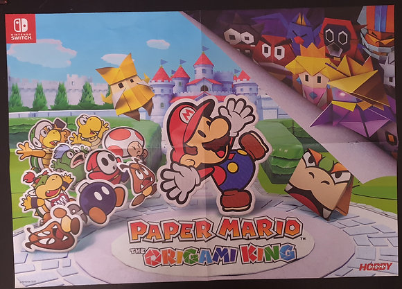 PÓSTER PAPER MARIO ORIGAMI KING - GHOST OF TSUSHIMA