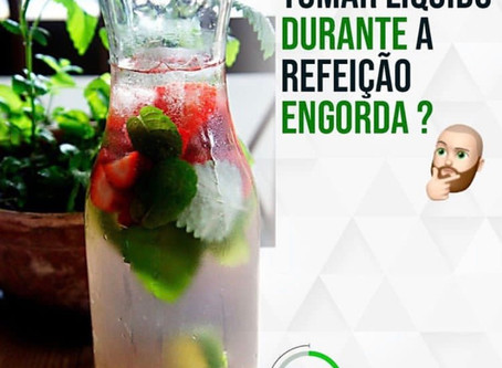 Tomar liquido durante a refeição engorda? Dr Douglas Nunes responde