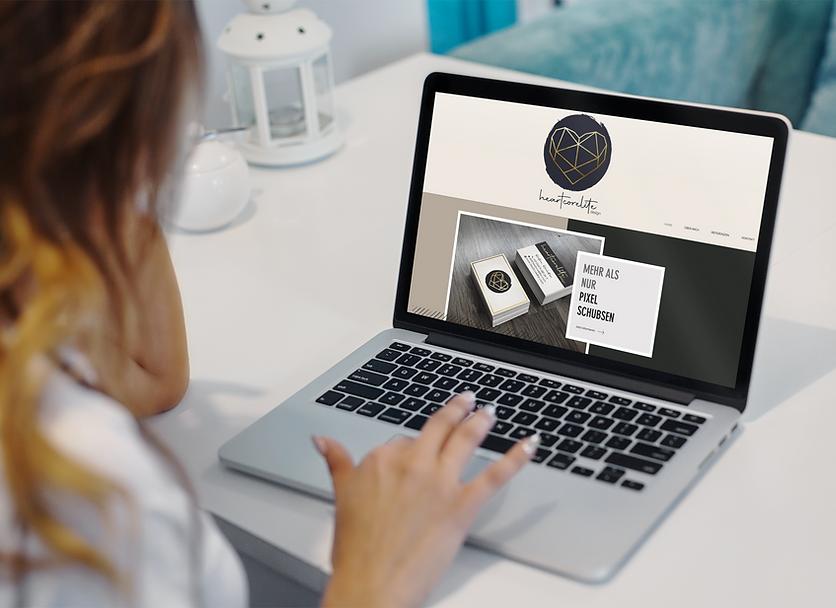 Heartcorelite Design Mockup Website