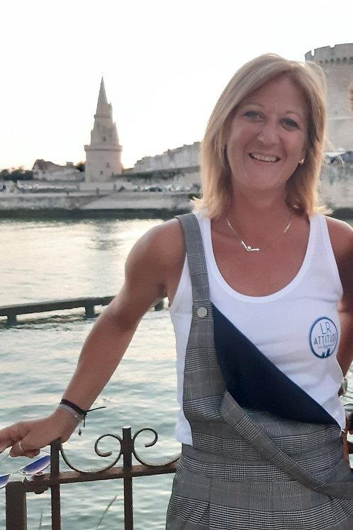 Débardeur femme 100% Coton BIO logo LR ATTITUDE Coeur