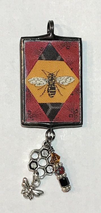 "1"" x 1 1/2"" Bee Pendant with Bling"