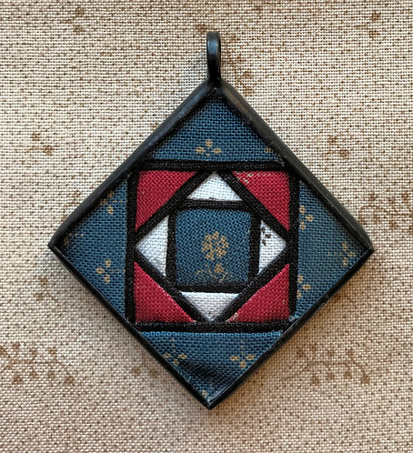 """1 1/4"""" Stained Glass Block Pendant"""