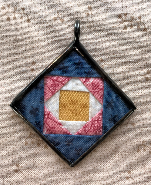 "1 1/4"" Square in a Square Pendant"