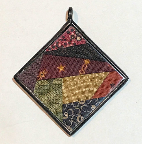"1 1/2"" Crazy Block Pendant"