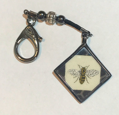 "Scissor Fob - 1"" Bee"