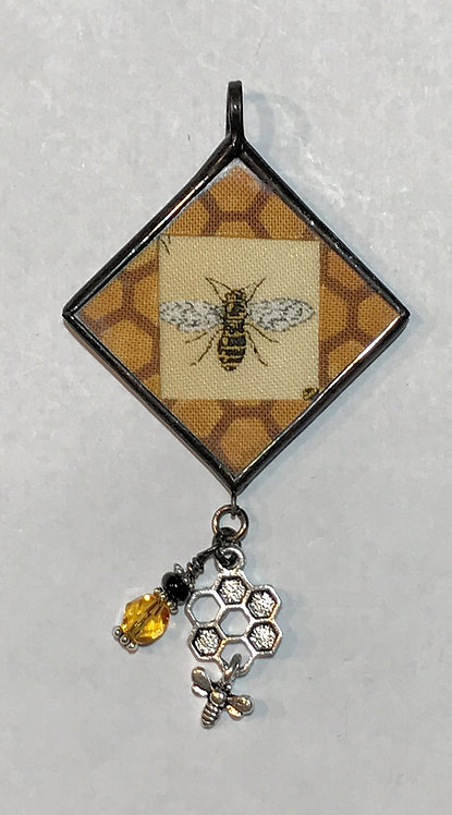 """1 1/4"""" Bee Pendant with Bling"""