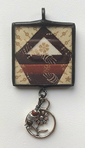 """1 1/4"""" Basket Pendant with Bling"""