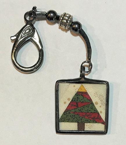 """Scissor Fob - 1"""" Christmas Tree"""