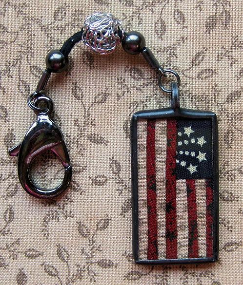 "Scissor Fob - 7/8"" x 1 1/2"" American Flag"