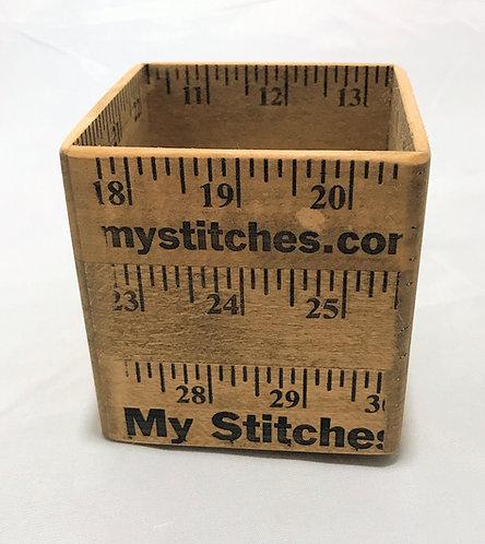 """Ruler Box -3"""" x 3"""", Three Tall"""