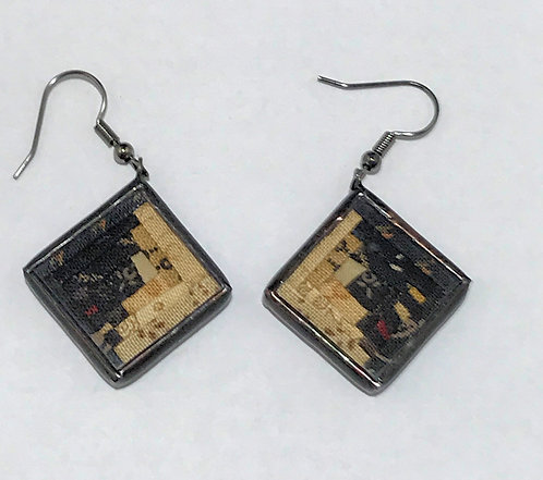 "3/4"" Log Cabin Earrings"