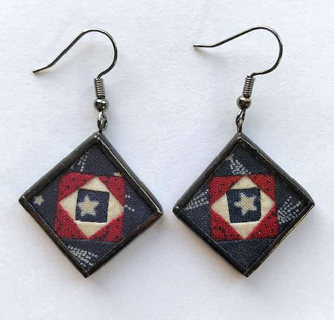 "3/4"" Square in a Square Earrings"
