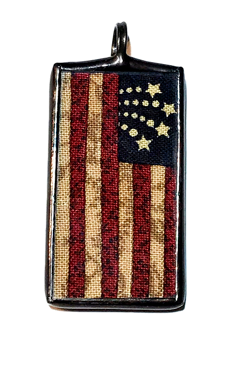 "7/8"" x 1 1/2"" American Flag Pendant"