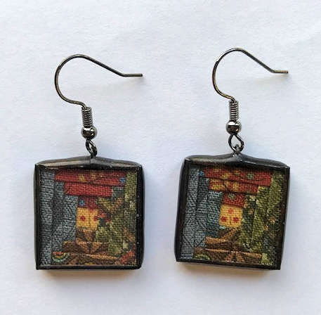 "3/4"" Courthouse Steps Earrings"