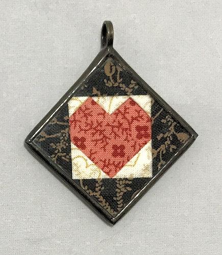 """1 1/4"""" Heart in a Square Pendant"""